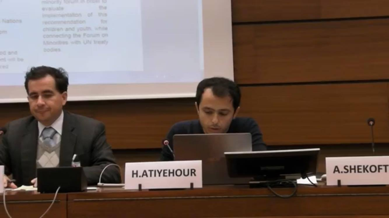Ahwaz Studies Centre representitive speaks at 10th UN Forum on Minority Issues